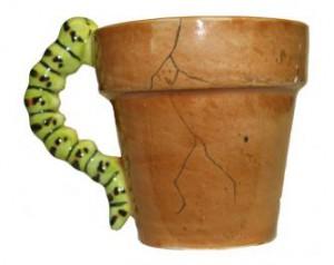 Ein Blumentopf als Tasse